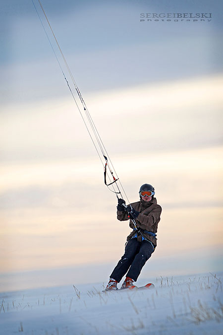 calgary sports kite skiing photo