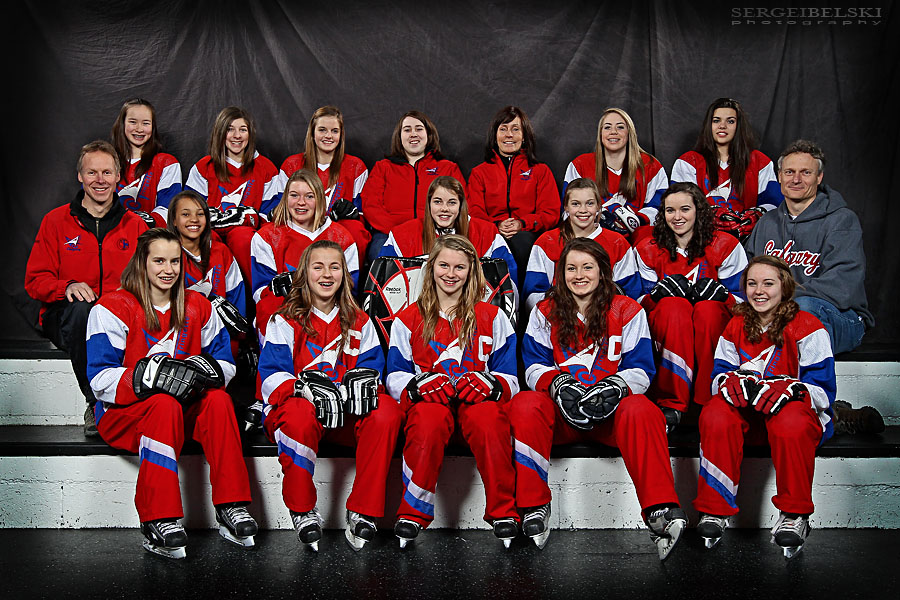 algary photographer ringette team photographs