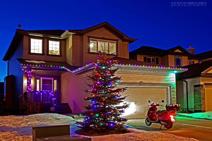 vespa adventures christmas home photo