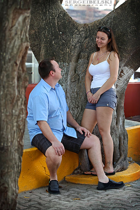 mexico engagement photo
