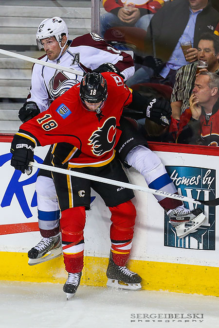 nhl hockey calgary flames vs colorado avalanche sergei belski photo