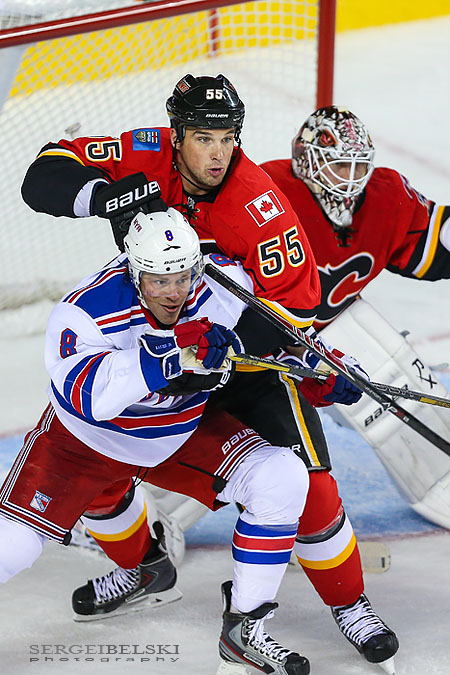 nhl hockey calgary flames vs new york rangers sergei belski photo