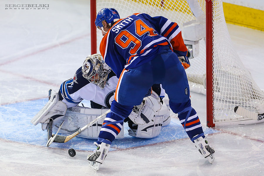 nhl hockey edmonton oilers vs winnipeg jets sergei belski photo