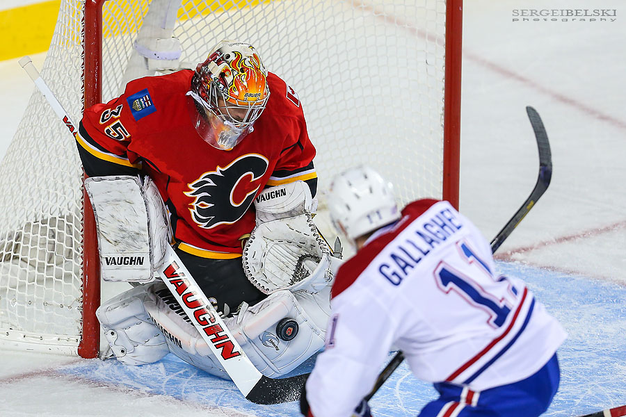nhl hockey calgary flames vs montreal canadiens sergei belski photo