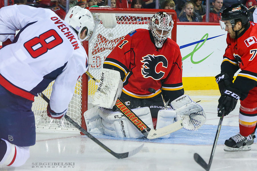 nhl hockey calgary flames vs washington capitals sergei belski photo