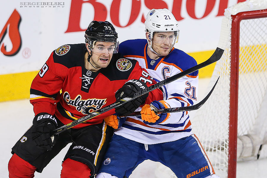 nhl hockey calgary flames vs edmonton oilers sergei belski photo