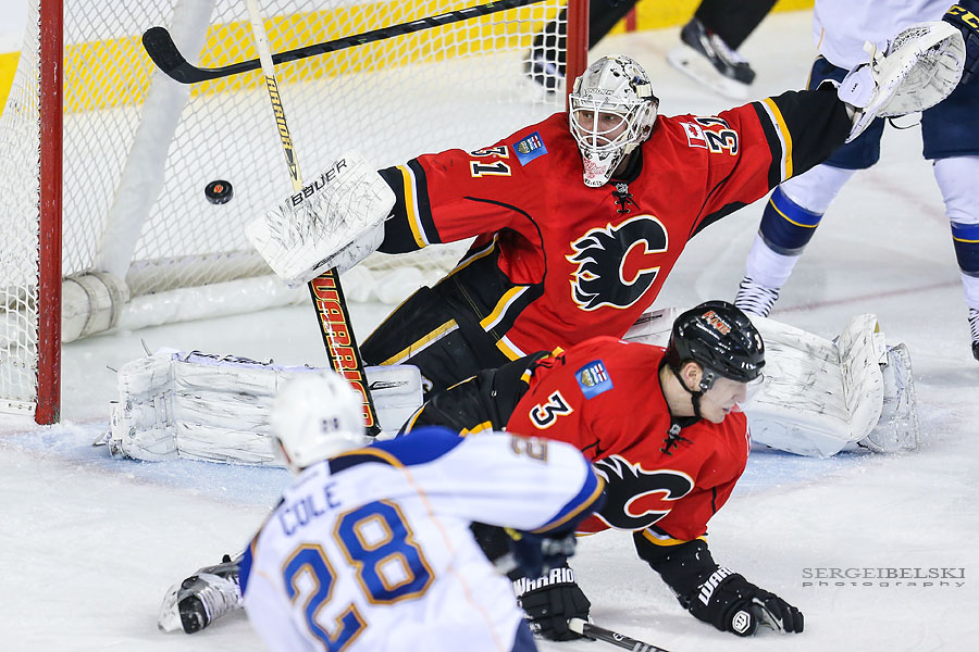 nhl hockey calgary flames vs st louis blues sergei belski photo