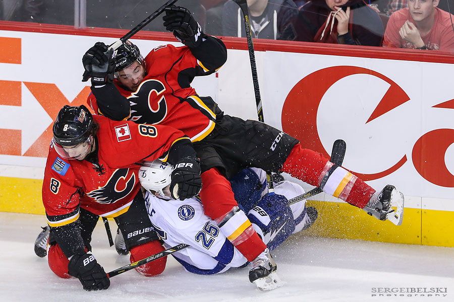 nhl hockey calgary flames vs tampa bay lightning sergei belski photo