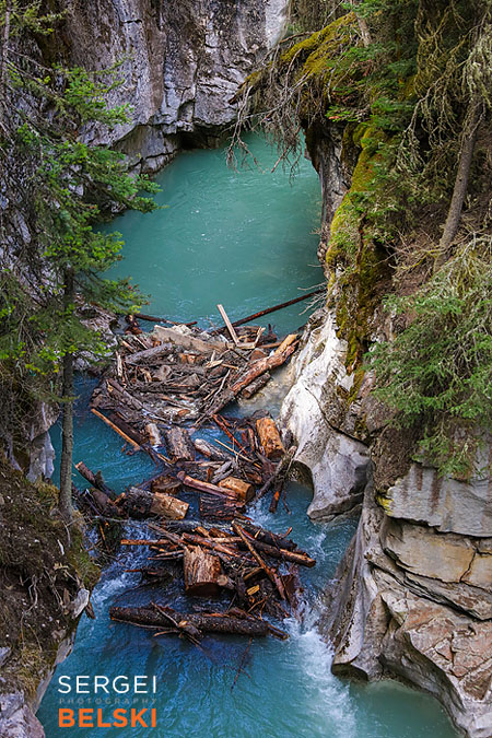johnston canyon calgary travel photographer sergei belski photo