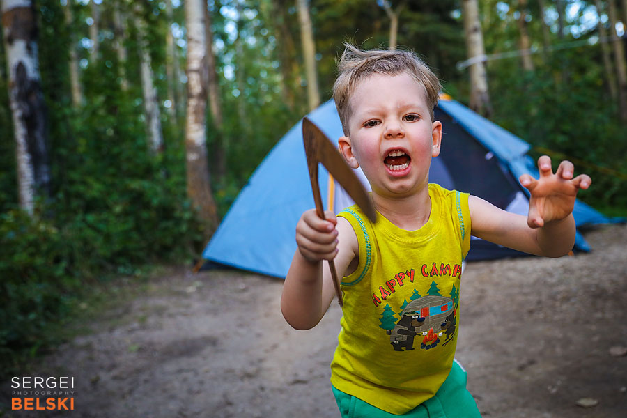 camping family trip photographer sergei belski photo