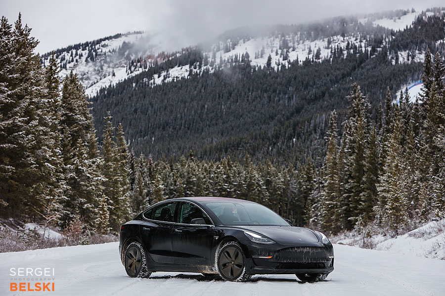 my tesla adventures Lake Louise photographer sergei belski photo